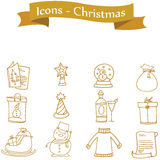 Element Christmas of icons vector Royalty Free Stock Images