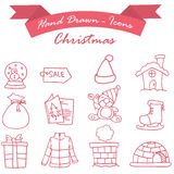 Element Christmas set of icons Royalty Free Stock Photos