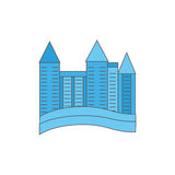 Element city. Multi-storey house. Vector illustration vector illustration