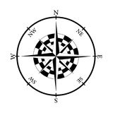 Element of the compass stock image