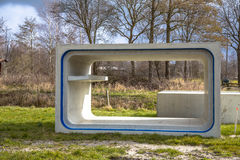 Element of concrete eco culvert. With gangway for wildlife Stock Photos