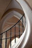 Element of curved white columns and black railings Royalty Free Stock Photography