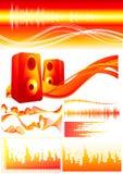 element czerwonym dźwięk royalty ilustracja