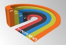 Element 3D Infographics, Vektor-Illustration Lizenzfreies Stockbild
