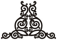 Element of decorative lattice. Stock Images