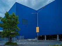 Element der abstrakten Kunst des Architekturkaufhauses und -straße Stockfoto