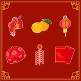 Element der chinesischen Illustration der neuen Jahre Lizenzfreies Stockbild