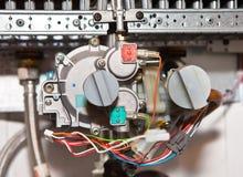 Element der Zündung des GasWarmwasserbereiters, Kessel Lizenzfreies Stockbild