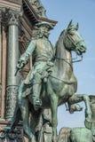 Element des alten Erinnerungsmonuments der Kaiserin Maria Theresa in Wien, Österreich lizenzfreie stockbilder
