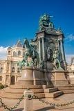 Element des alten Erinnerungsmonuments der Kaiserin Maria Theresa in Wien, Österreich lizenzfreie stockfotos