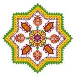 Element des Perserteppichs - achteckiger Stern Lizenzfreies Stockbild