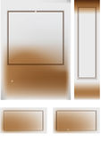 The element of a design. Decorative frame Royalty Free Stock Photography