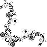 Element for design, corner flower, vector. Illustration Royalty Free Stock Images