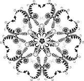 Element for design, corner flower, vector. Illustration Stock Photography