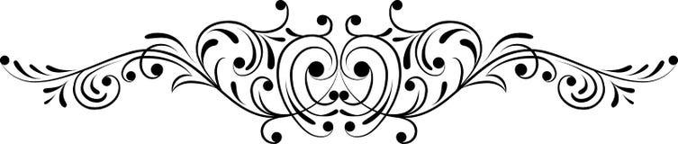 Element for design, corner flower, vector. Illustration Royalty Free Stock Photo