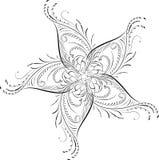 Element for design, corner flower, vector. Illustration Stock Images
