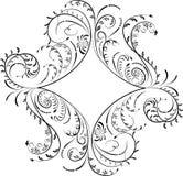 Element for design, corner flower, vector. Illustration Stock Image