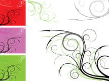 Element for design, corner flower, vector Stock Photo