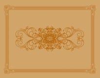 Element for design, flower frame Royalty Free Stock Images