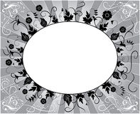 Element for design, flower frame, vector. Illustration Stock Photo