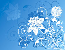 Element for design, flowers ornament, vector