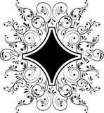 Element for design, frame flower, vector. Illustration Stock Images