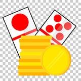 Element Design for Gamble at Transparent Effect Background. VectorElement Design for Gamble at Transparent Effect Background stock illustration