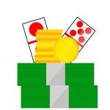 Element Design for Gamble on white. Vector Element Design for Gamble on white stock illustration