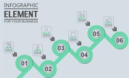 Element dla infographic mapa szablonu geometrycznej postaci pokrywa się okręgi Zdjęcia Stock