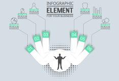 Element dla infographic mapa szablonu geometrycznej postaci pokrywa się okręgi Zdjęcia Royalty Free