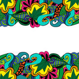 Element doodle boarder in vivid colors. Stock Image