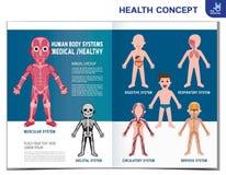Element-Entwurfsillustration des medizinischen Vektors der Gesundheit infographic vektor abbildung