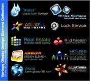 element för affärsdesign stock illustrationer