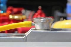 Element för bil för trycklock aluminium fotografering för bildbyråer