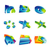element för design 3d Royaltyfria Bilder