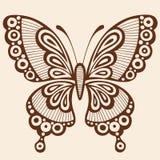 Element för design för fjärilsSilhouettevektor Fotografering för Bildbyråer