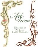 element för design för konsthörndeco Arkivbild