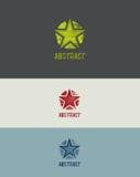 Element för Grunge stjärnadesign Arkivfoton