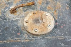 Element för propp för vatten för frostskyddsvätska för lock för bilbilkylmedel arkivbild