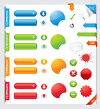 Element för rengöringsdukdesign Fotografering för Bildbyråer