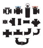 Element för vattentillförselsystem vektor illustrationer