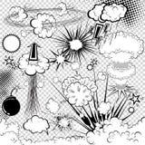 Element för vektorhumorbokexplosion vektor illustrationer