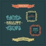 Element för vektortappningdekor. inramniner band royaltyfri illustrationer