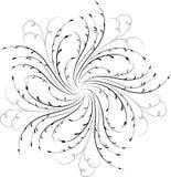 Element für Auslegung, Eckblume, Vektor Lizenzfreie Stockbilder