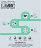 Element für geometrische Zahl Überschneidungskreise der infographic Diagrammschablone Lizenzfreies Stockfoto