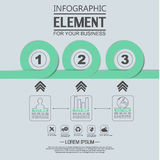 Element für geometrische Zahl Überschneidungskreise der infographic Diagrammschablone Lizenzfreie Stockfotos
