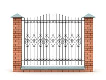 Element of the fence with the forged grid Royalty Free Stock Image