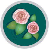 Element of a flower ornament, roses Stock Image