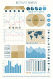 Element four. Set of infographic elements, web technology icons.  timeline, option graph, bar code symbol. pie chart info graphic icon. economy statistic and Stock Photos