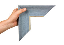 Element of the frame  in hand Royalty Free Stock Image